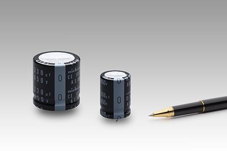 """基板自立型鋁電解電容器""""LAS系列""""追加了行業最高級別的450V額定,擴充了產品陣容"""